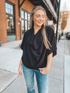 FREE BIRD TOP - BLACK