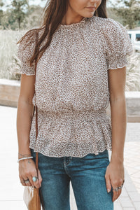 BORN TO SHINE BLOUSE - TAUPE