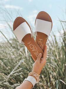 CABANA SANDALS - WHITE LEATHER - MATISSE