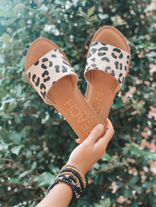 CABANA SANDALS - LEOPARD COWHAIR - MATISSE