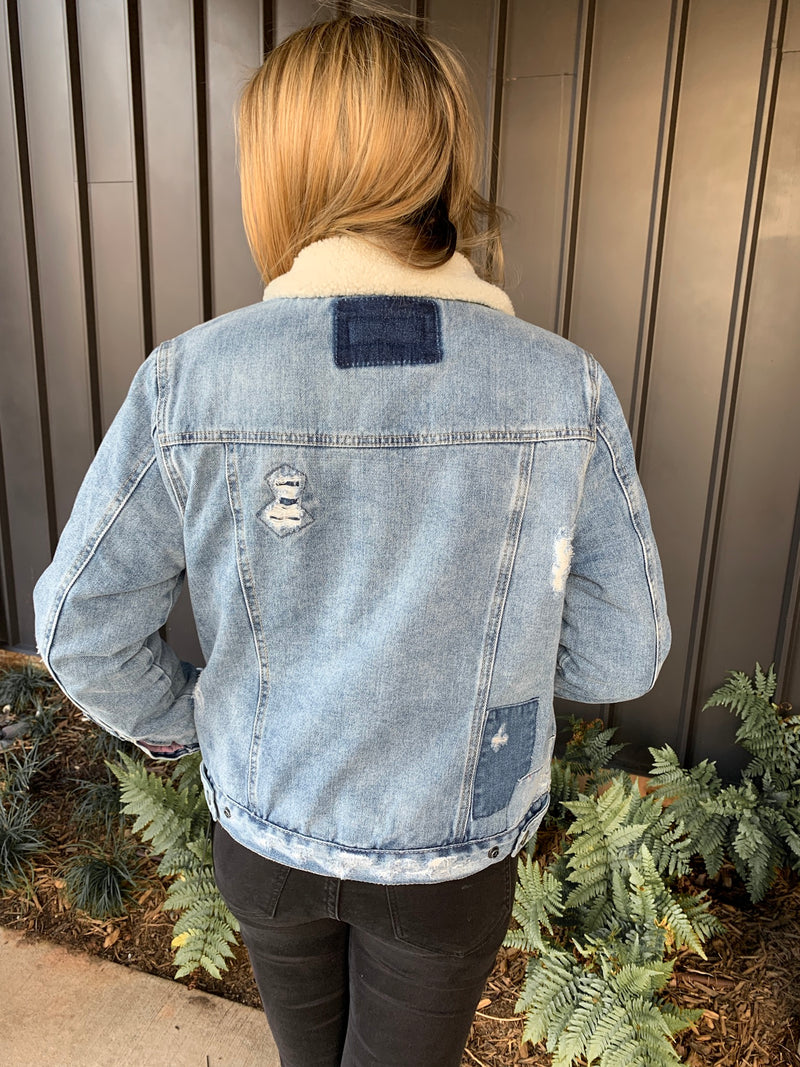 BLANK NYC ICE ROAD TRUCKER JACKET