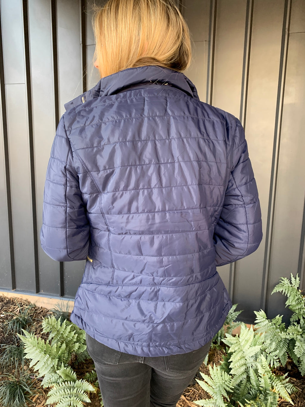 MIDNIGHT BLUE PUFFER JACKET
