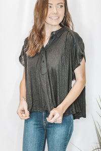 FREE PEOPLE - AFTER HOURS TOP - BLACK