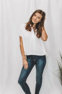 FREE PEOPLE - AFTER HOURS TOP - WHITE