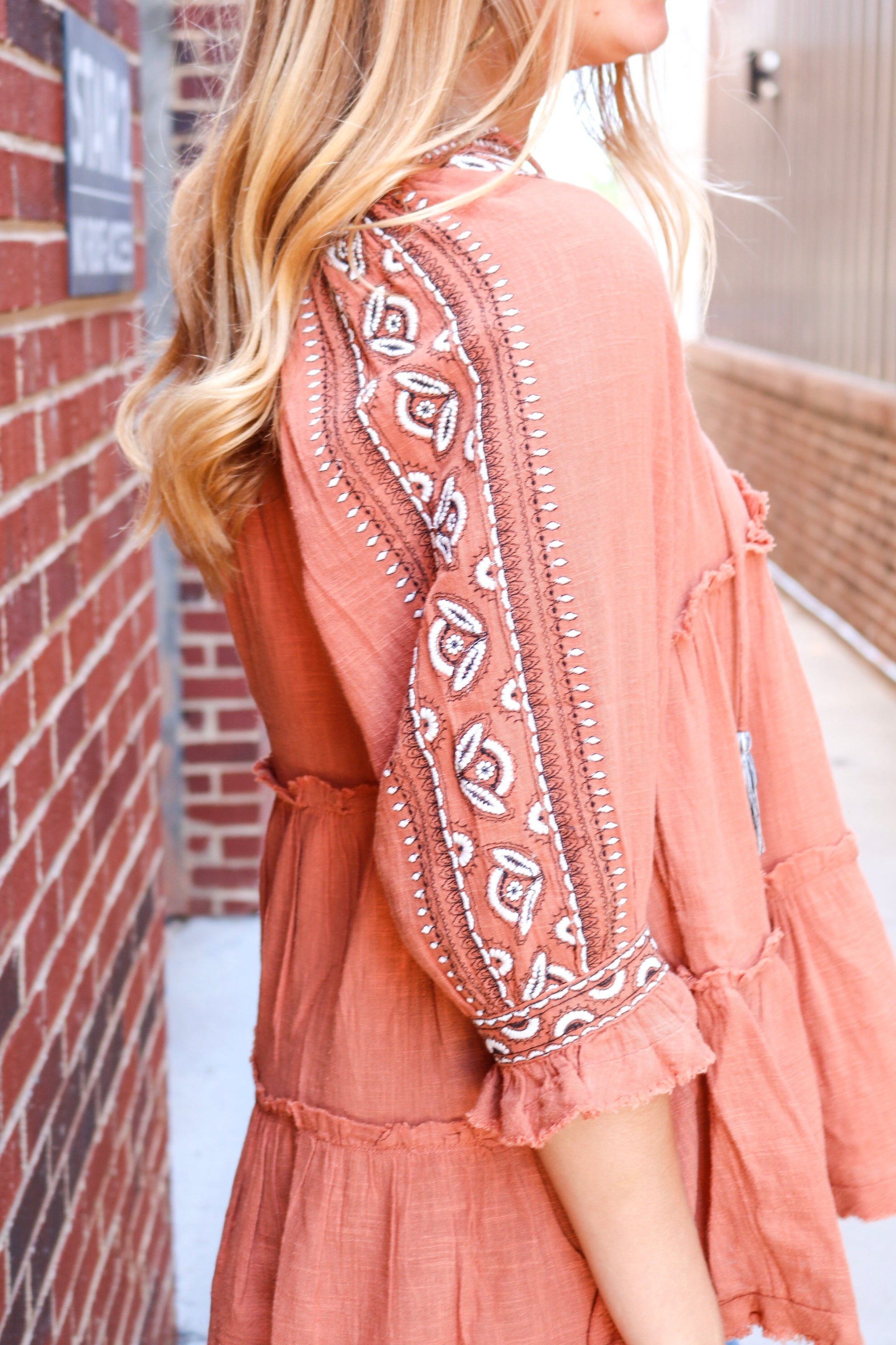 FREE PEOPLE DREAMWEAVER EMBROIDERED TUNIC