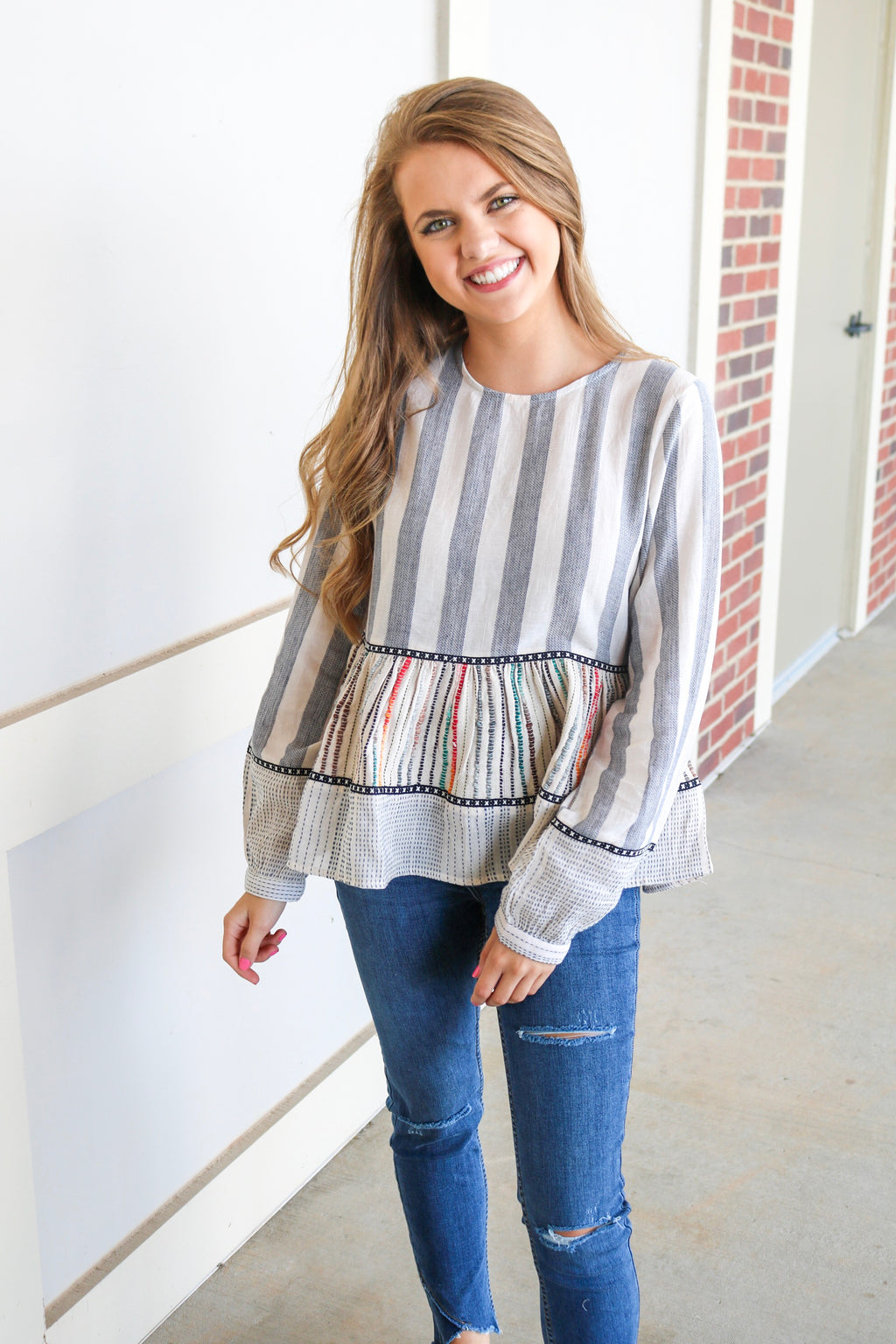 STRIPE UP TOP