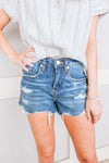 BLANK NYC - THE BARROW - VINTAGE HIGH-RISE SHORTS