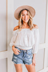 FREE PEOPLE DANCING TIL DAWN IVORY GAUZE TOP