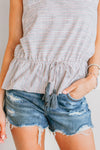 BLURRED LINES TASSEL TIE TOP