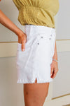 JACK BY BB DAKOTA - DOWN TO BUSINESS DENIM SHORT - WHITE