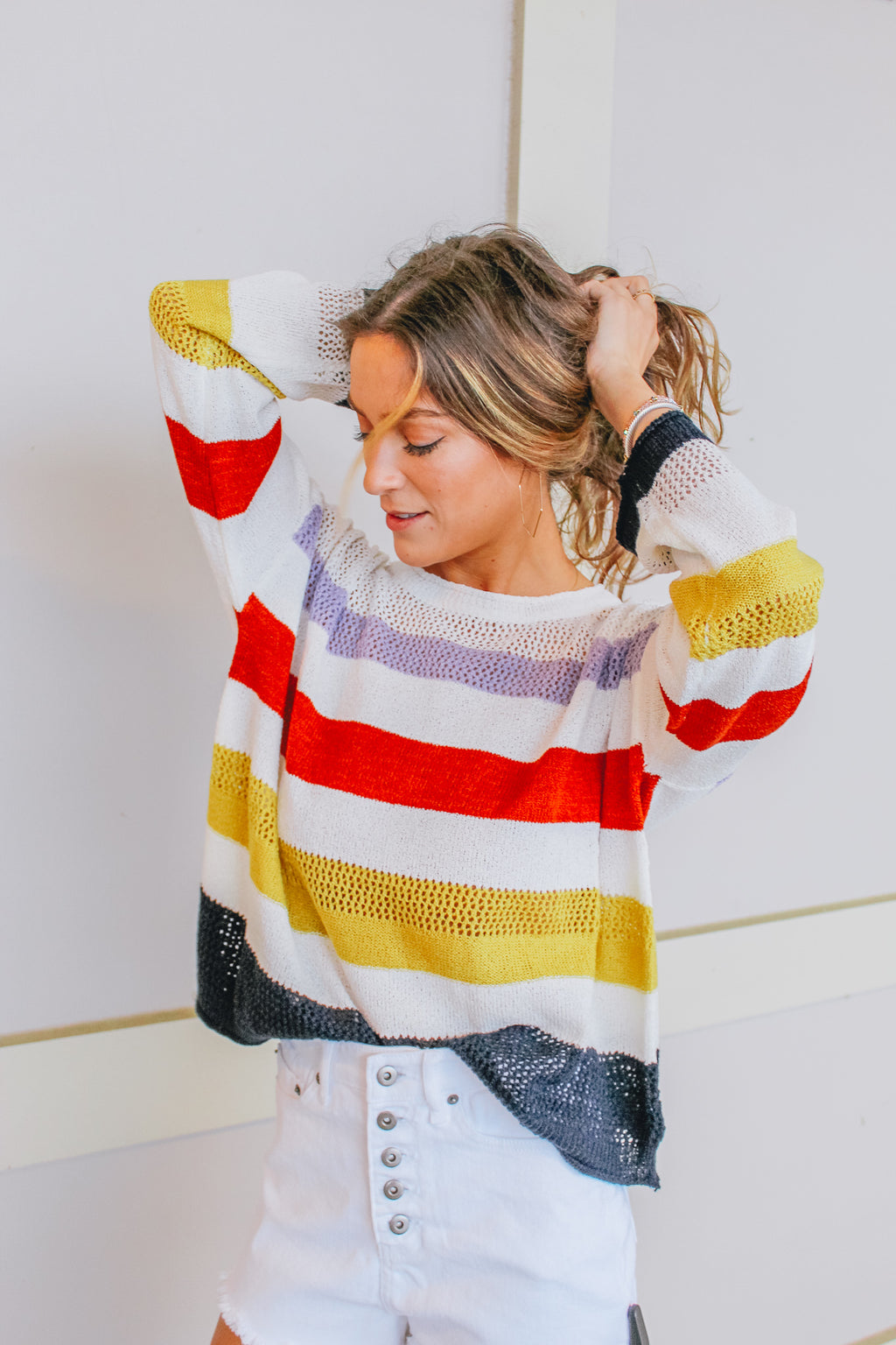 ALONG THE STRIPE LINE SWEATER