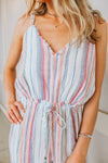 LOOK BACK AT IT STRIPED ROMPER