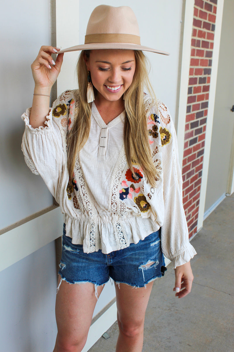 FREE PEOPLE HEY THERE DELILAH TOP