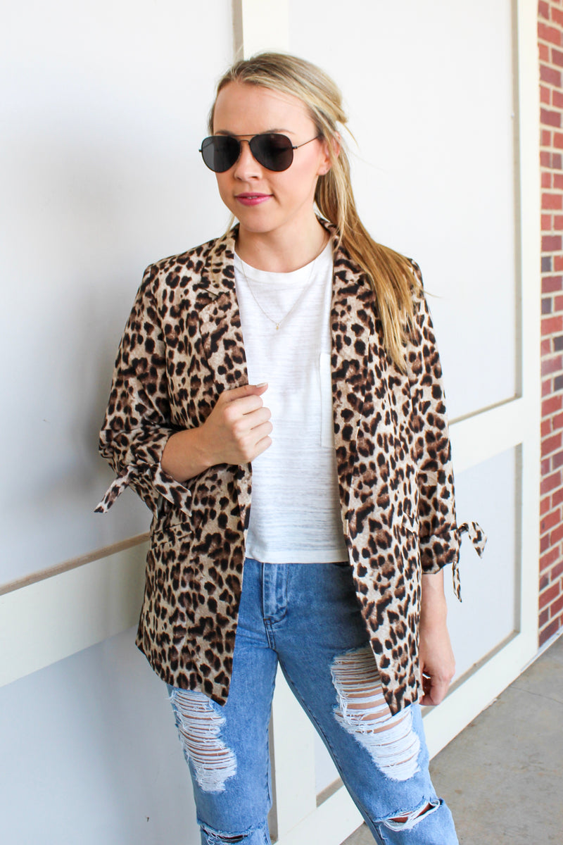 MEOW OR NEVER LEOPARD BLAZER