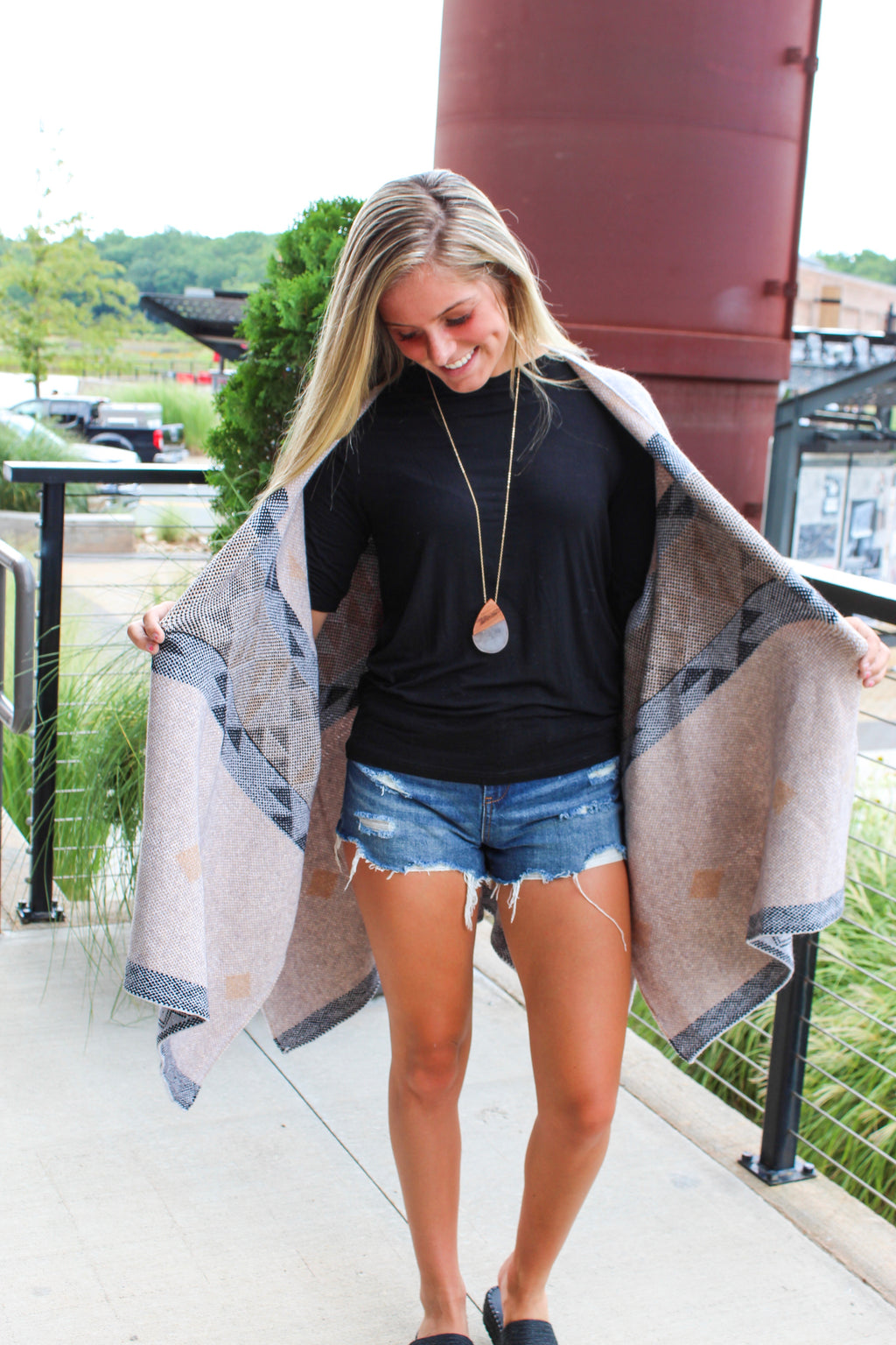 TRIBAL VIBE SHAWL CARDIGAN