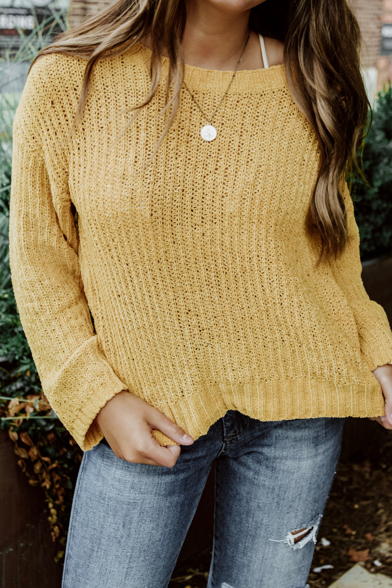 BB DAKOTA CHENILLE THE DEAL SWEATER