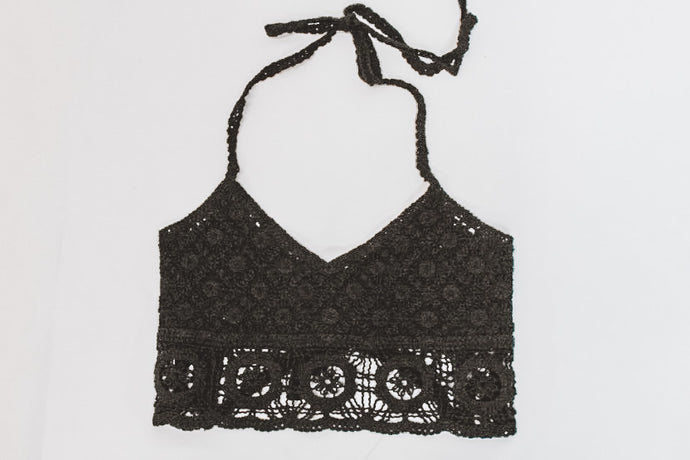 CROCHET THE DAY BRALETTE - BLACK - FREE PEOPLE