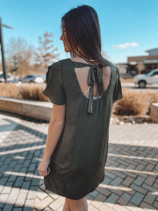 EASY DOES IT DRESS - OLIVE