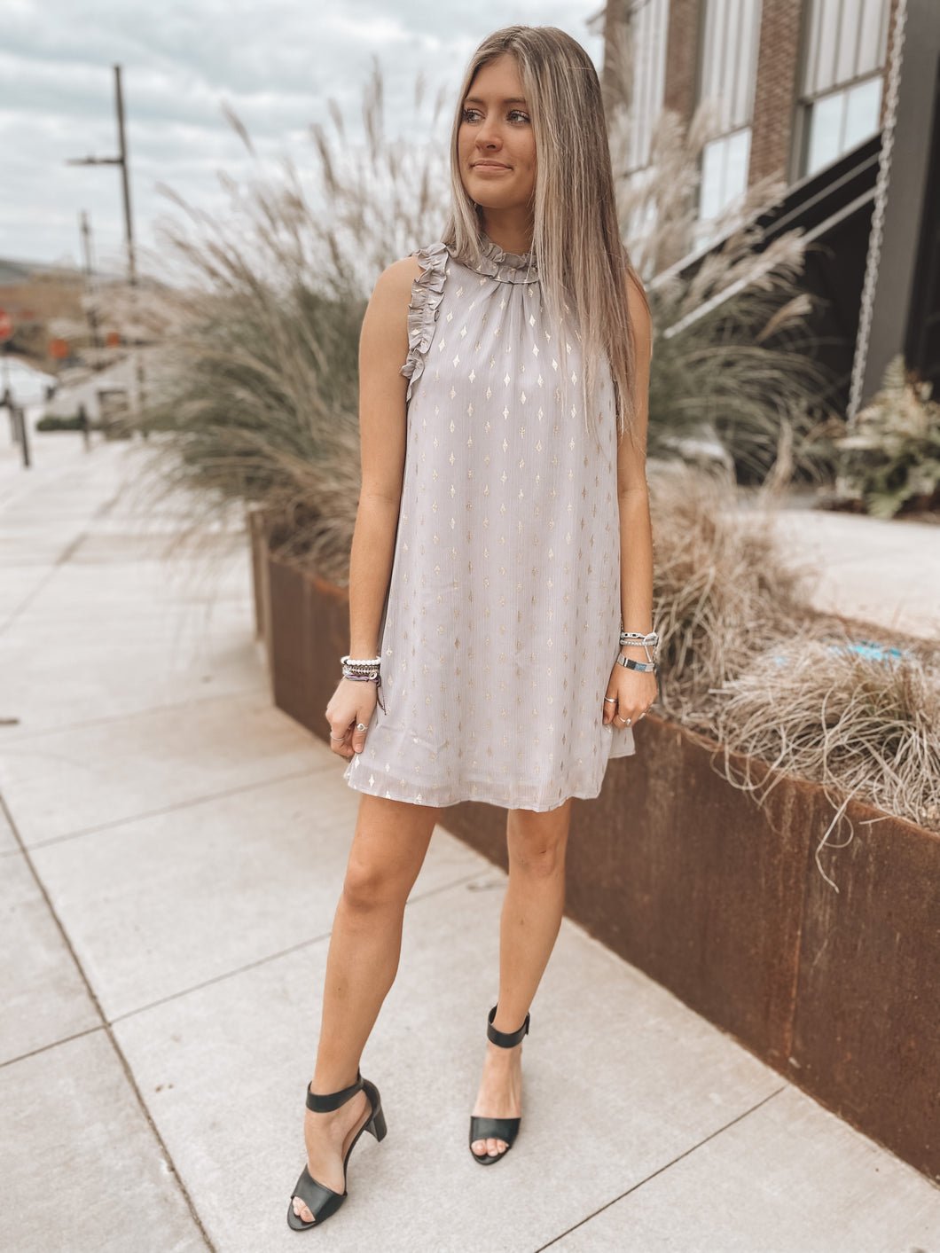 HOW DO YOU LIKE ME NOW DRESS - GREY
