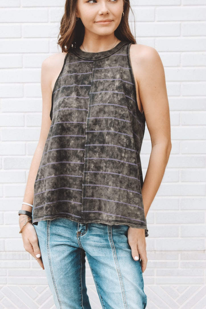FREE PEOPLE - STRIPED MAKING WAVES TANK