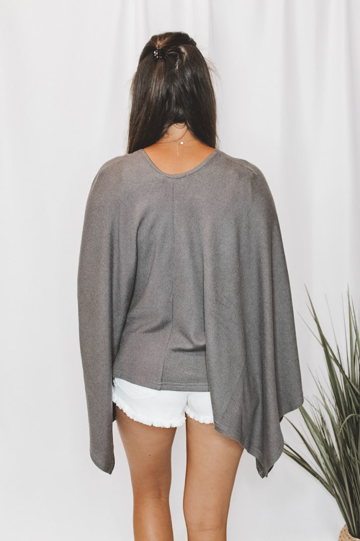 COVER ME UP - GREY CARDIGAN