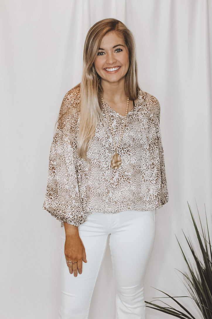 WILD CARD BLOUSE