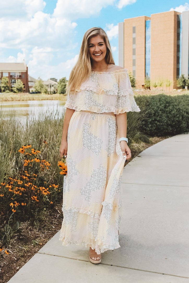 A LITTLE DITZY MAXI DRESS