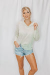 LET'S SPLIT DOLMAN TOP - GREEN