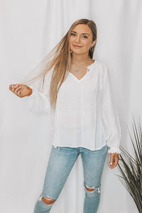 RUFFLE MY FEATHERS BLOUSE - WHITE