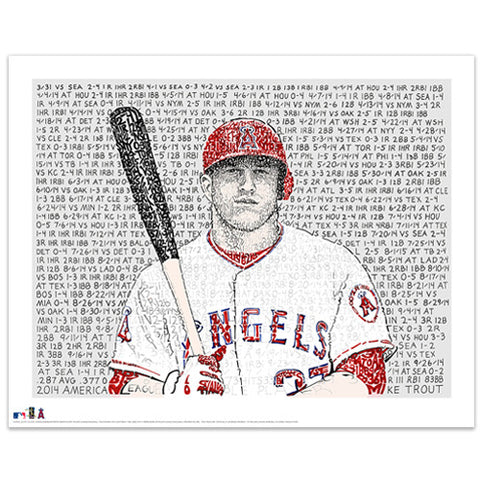 Mike Trout 2014 AL MVP Word Art