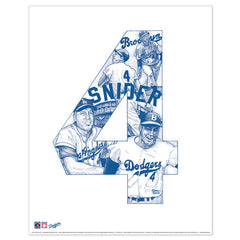 Los Angeles Dodgers #4 Duke Snider