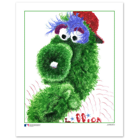Phillie Phanatic Stamp Portrait