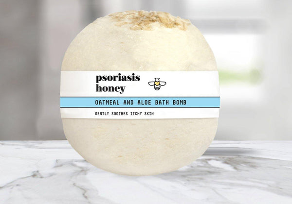 Introducing the Psoriasis Honey Oatmeal and Aloe Bath Bomb - Psoriasis Honey