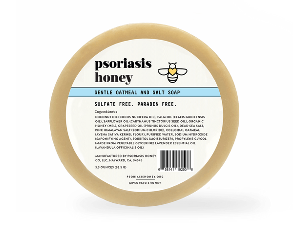 Psoriasis Honey Oatmeal and Salt Soap