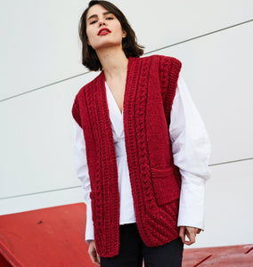 The Ugly vest red