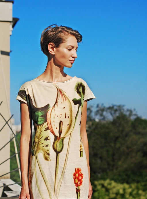Botanical print #2 Long T-shirt