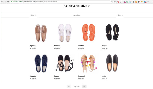 Saint&Summer collection on FEM