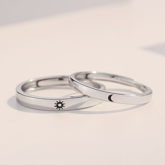 Sun & Moon Couple Rings