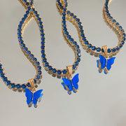 Cobalt Butterfly Chain