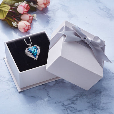 Swarovski Angel Wings Heart Necklace