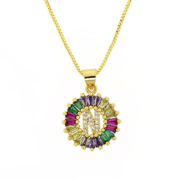 Rainbow Gold Micro Pave - Choose the Letter