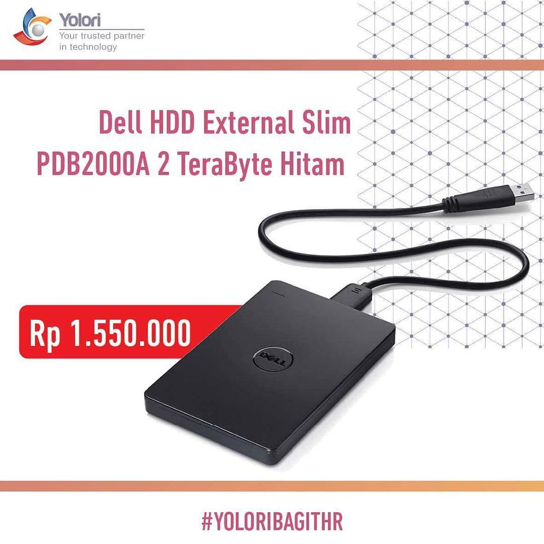 Dell HDD External Slim 2TB