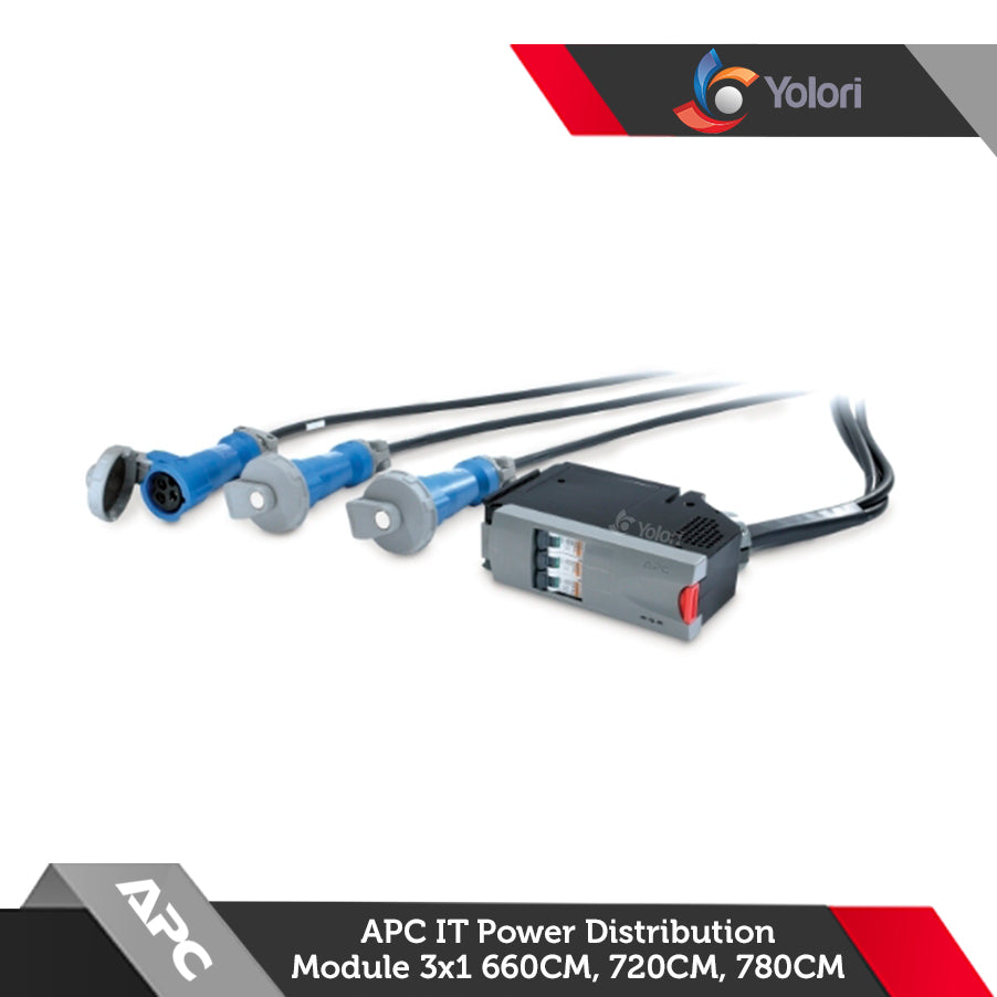 PDM1332IEC-3P, Harga APC IT Power Distribution Module 3x1 Pole 3 Wire 32A 3xIEC309 660cm, 720cm, 780cm, Spesifikasi APC IT Power Distribution Module, Yolori menjual Power Distribution Unit dengan katalog yang sangat lengkap :  OSRAM, Harga Rack, APC, Schneider Electric, ABBA, Austin Hughes, Litech, Netgear, IndoRack, Dell EMC, Hitachi, Samsung, HPE, Electrolux.
