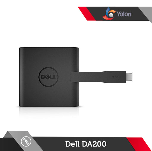 Dell DA200 Adapter [USB Type C to HDMI, VGA, Ethernet, USB 3.0]