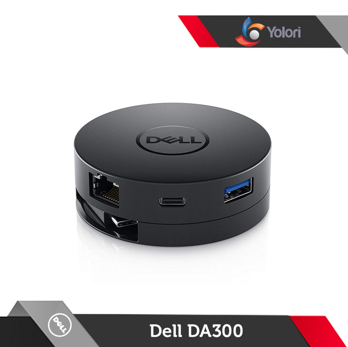 Dell DA300 Adapter [Compact 6-in-1 USB Type-C Adapter]