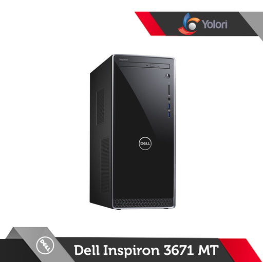 Dell Inspiron 3671 MT [Ci3-9100, 8GB, 1TB, Intel UHD, Windows 10 Pro]+Dell Monitor E2016HV