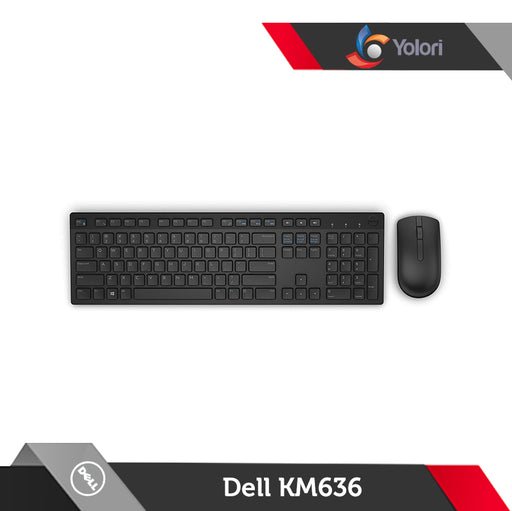 Dell Wireless Keyboard Mouse KM-636 Hitam