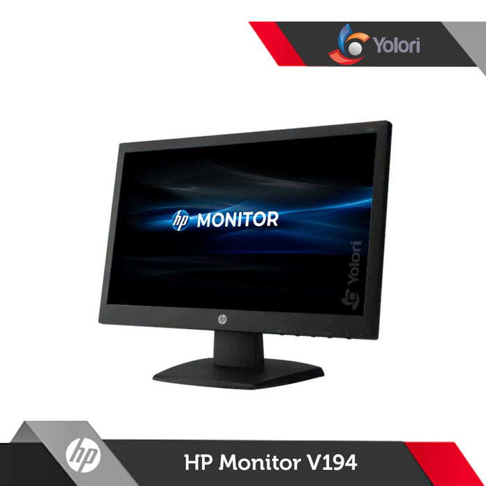 "HP Monitor V194 [18.5"" HD (1366 x 768) TN with LED Backlight Display"