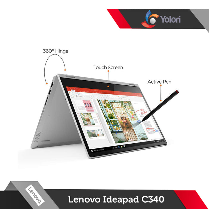 Lenovo Ideapad C340-81TK00 [Ci5-10210U, 8GB, 512GB, Nvidia 2GB, Windows 10, FHD Touch]