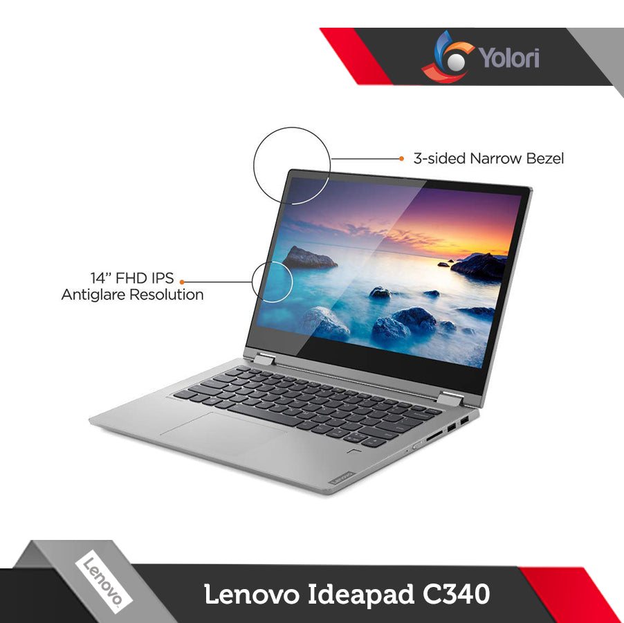 Lenovo Ideapad C340-81TK00 [Ci7-10510U, 16GB, 512GB, Nvidia 2GB, Windows 10, FHD Touch]